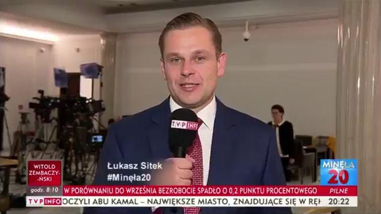 Łukasz Sitek, TVP Info