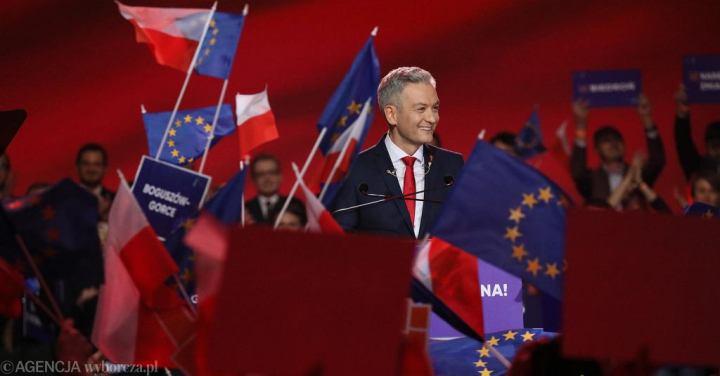 Rober Biedroń at a party convention. Source: Sławomir Kamiński / Agencja Gazeta