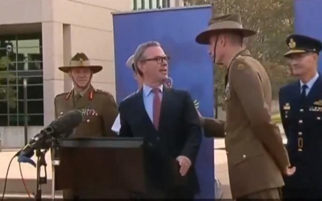 Konferencja australijskiego ministra obrony narodowej