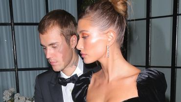 Hailey and Justin Bieber in evening wear