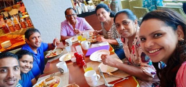 Nisanga Mayadunne opublikowała zdjęcie ze świątecznego śniadania tuż przed zamachami na Sri Lance