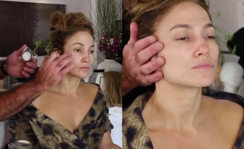 Jennifer Lopez showed up without makeup