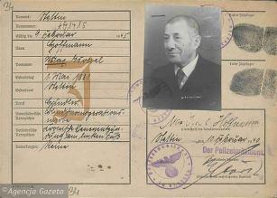 Kenkarta Maxa Israela Hofmmana wywiezionego w transporcie pomorskich Żydów do Lublina w lutym 1940 r.
