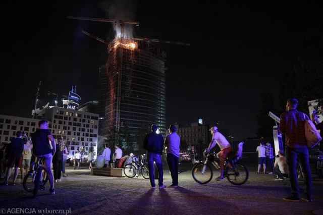 Pożar wieżowca Warsaw Hub