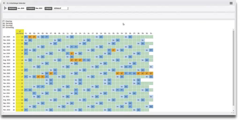 Personalmanagement und Kapazitaetsplanung mit Kalenderfunktionalität für Personaleinsatz und Auslastung: Dynamics 365 Business Central ERP