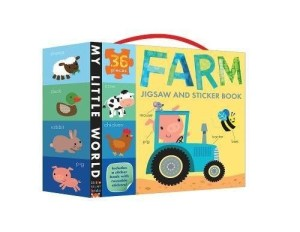 Children will enjoy learning a variety of farm words as they assemble this colorful, durable jigsaw of a busy farm! Together with the wipe-clean sticker book, this activity set develops problem-solving skills while providing hours of farmyard learning fun.