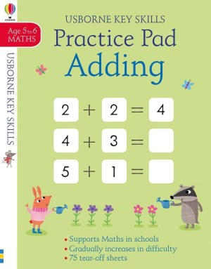 A handy pad packed full of tear-off activity sheets to help children practise their adding abilities with numbers from 0 to 20. Part of the Usborne Key Skills series that supports the maths children learn at school. Activities include number lines, missing numbers, quizzes and more, and get progressively harder. Answers are at the back of the book.