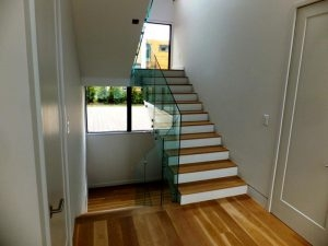 Glass Stair Railing Installation — Biaf Home Design   Diy Glass Stair Railing   Cable Railing   Modern Stair Parts   Floating Staircase   Railing Ideas   Wood
