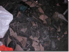 施工中磁磚.水泥層打除