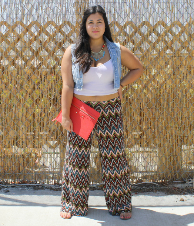 Summer time in tribal palazzo pants; OOTD