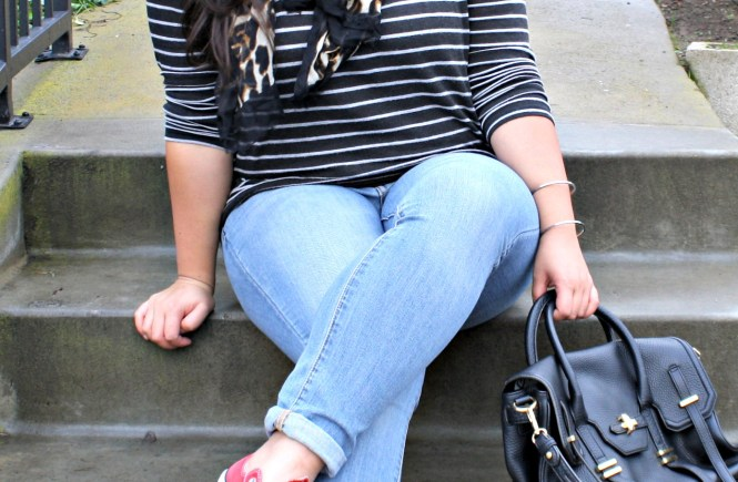 curvy stripe sweater