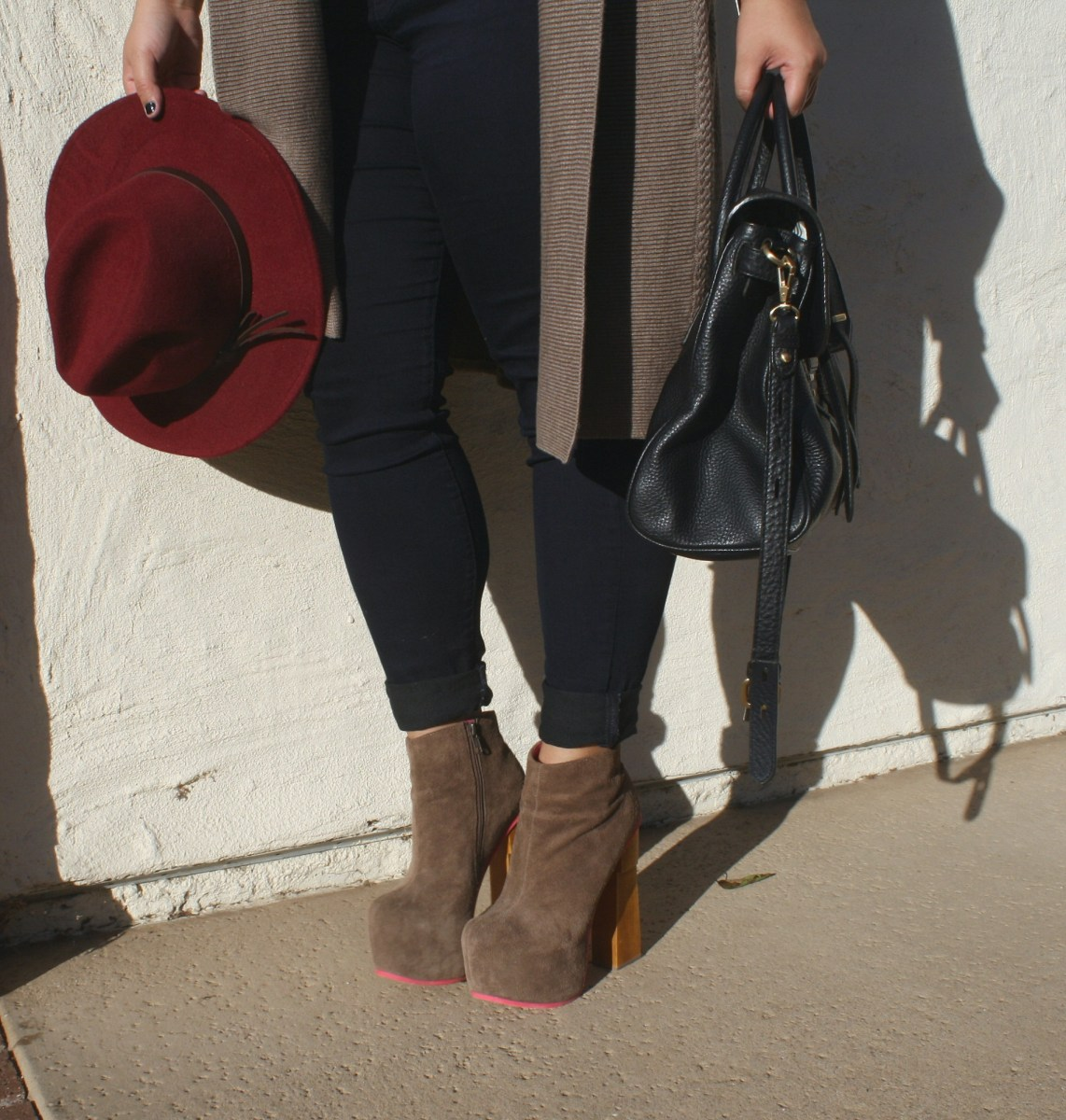 Plus size chunky knit sweater; OOTD