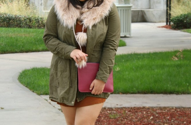 Forever21 fall earth tone plus size outfit