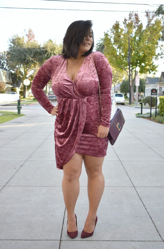 Velvet Asos curve nye dress