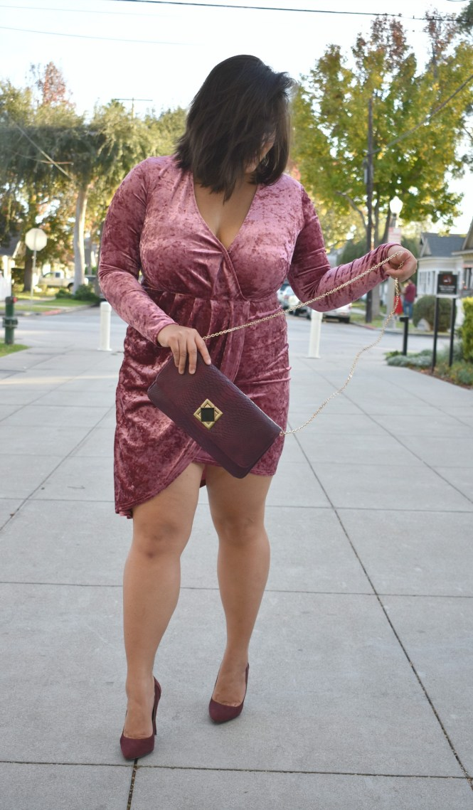 Velvet plus size New Years Eve dress