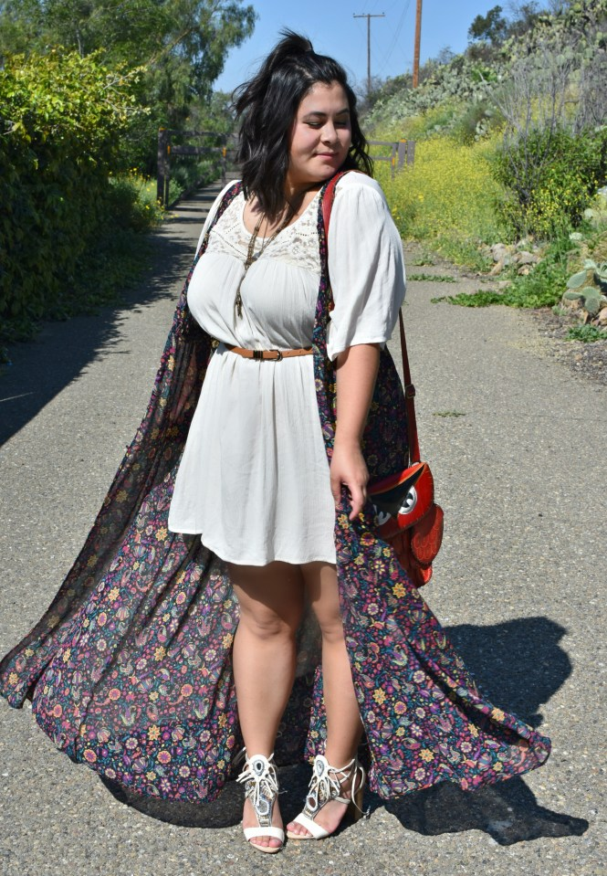 plus size floral duster