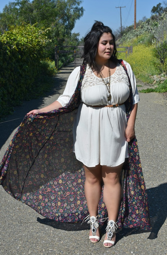 plus size floral duster coachella