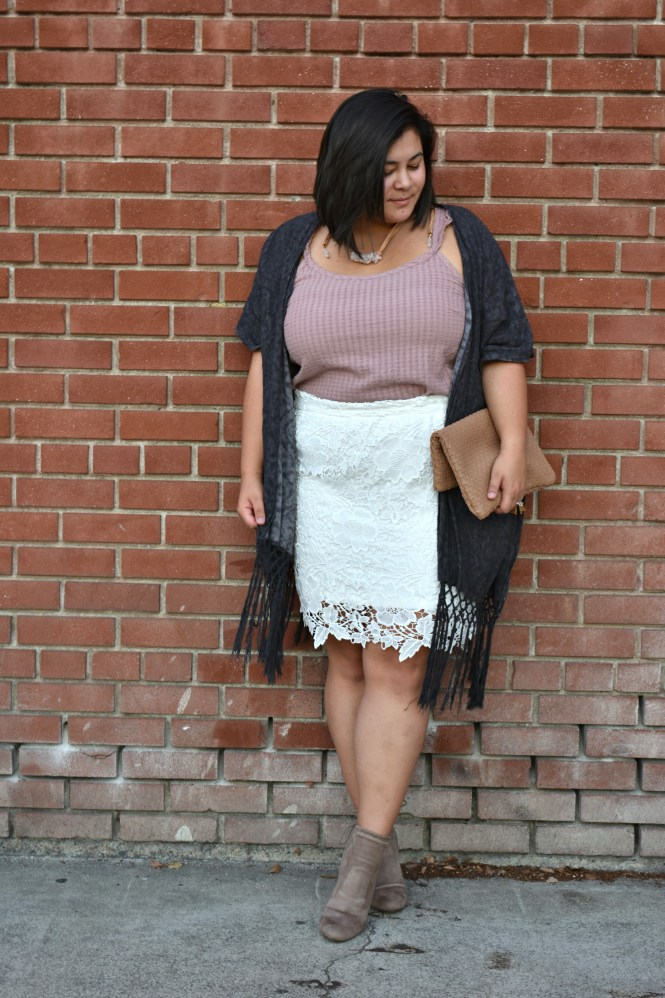 """""""Anne"""" Society Plus lace skirt"""