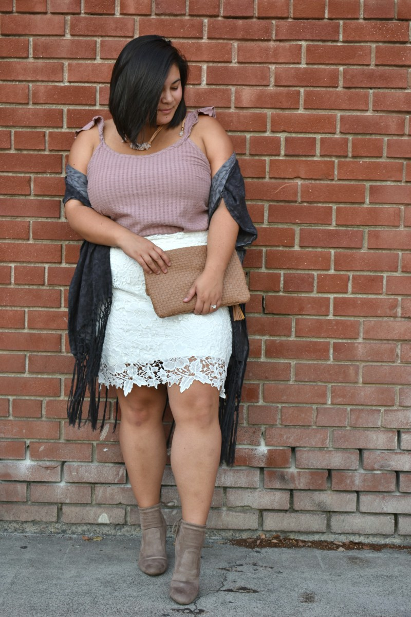 """""""Anne"""" Society Plus lace skirt; OOTD"""