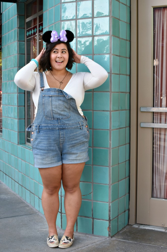 Plus size summer Disneyland outfit Overalls; OOTD - biancakarina