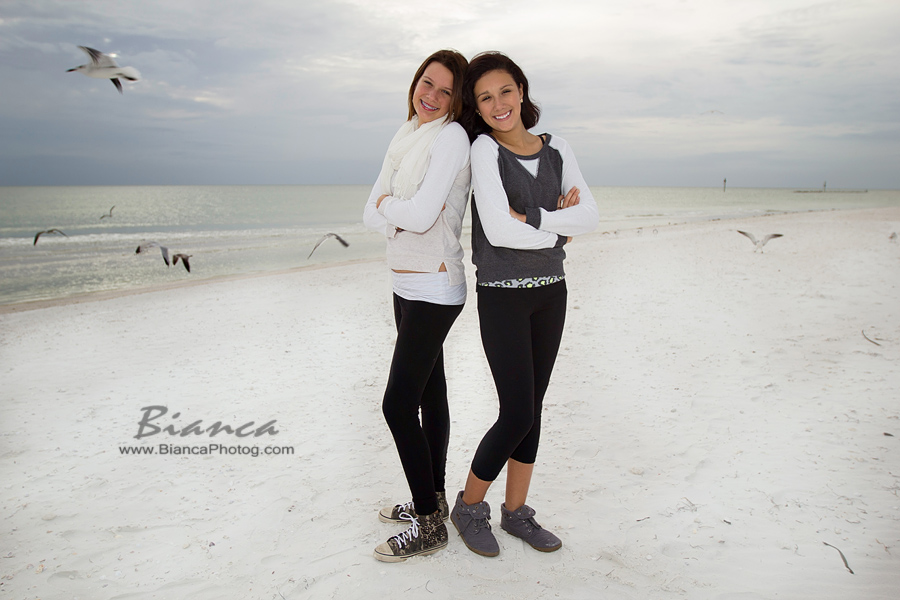 Two sisters at the beach
