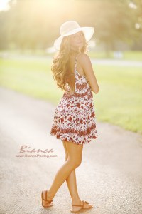 Senior Portrait Sundress and Hat Boardman Ohio