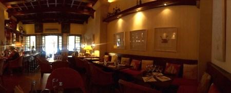 Das Restaurant innen