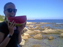 Wassermelone am Beach