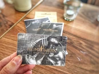 HeimWerk Schwabing Fast Slow Food Restaurant Bestellkarte
