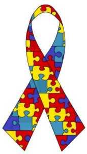 puzzle ribbon - about autism