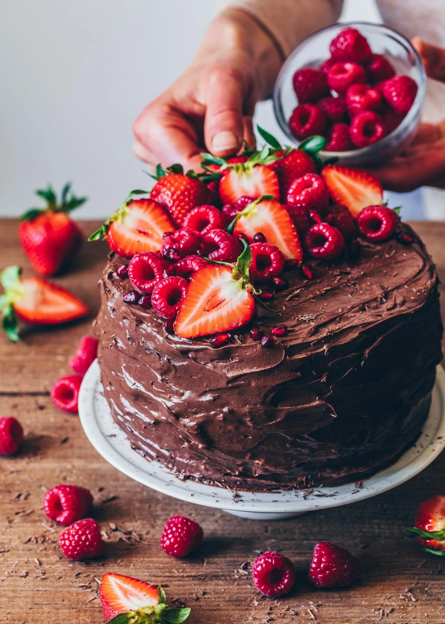 Chocolate Raspberry Cake Vegan Bianca Zapatka Foodblog