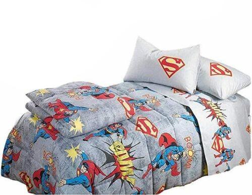 Letto 1 piazza e 1/2. Trapunta Disney Marvel Superman Vintage 1 Piazza E Mezza In Cotone Biancheria Per La Casa