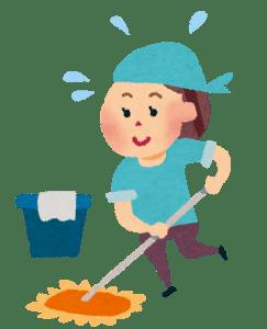 大掃除をしている女性の画像