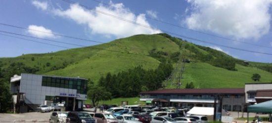 ニッコウキスゲビーナスラインの車山高原スキー場駐車場からの写真画像