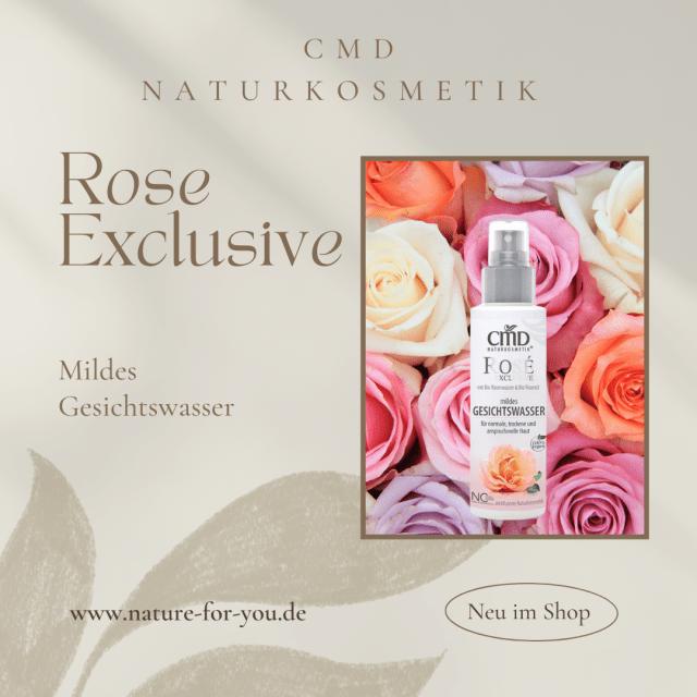 Rose Exclusive Mildes Reinigungswasser CMD Naturkosmetik
