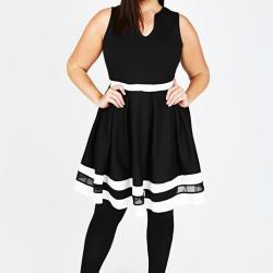 Black-and-White-Stripe-Skater-Dress