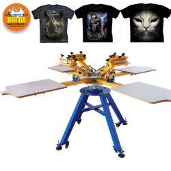DIY-T-Shirt-Clothes-Textile-Cheap-4-Color-4-Station-Manual-Hand-Silk-Screen-Printer
