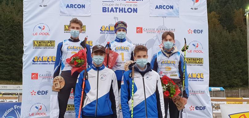 Podium U17 hommes - SST Arçon sprint - Circuit Nordique FFS