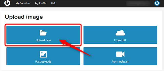 Upload imageの、『Upload new』をクリック。