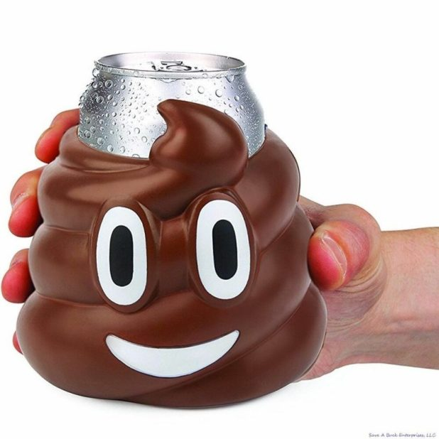 Smiling Poop for a Beer Can