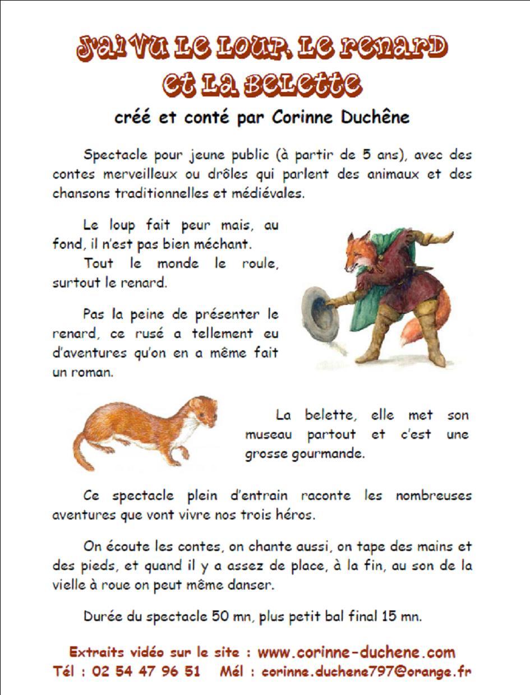 """Le Loup Le Renard Et La Belette : renard, belette, Spectacle, Enfants, """"J'ai, Loup,, Renard, Belette"""", Bibliothèque, Athée-sur-Cher"""