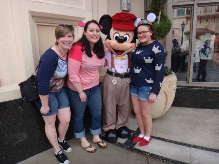 disneyland, high school reunion, disney characters, disney meet and greet, mickey mouse, California adventure, newsboy mickey