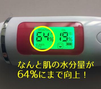 オルビスユー使用後の肌の水分量
