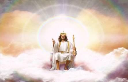 Jesus på sin tron