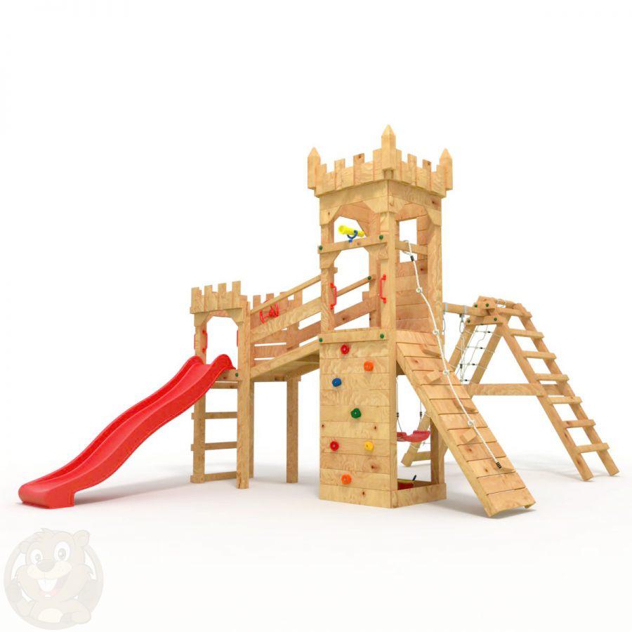 Relativ Spielturm Schaukel Rutsche Sandkasten   Stelzenhaus Mit Rutsche QZ78