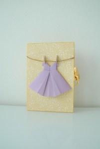 Scrapbooking Geburtstagkarte Origami Kleid