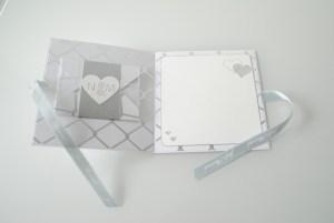 Scrapbooking Hochzeitskarte silber_2