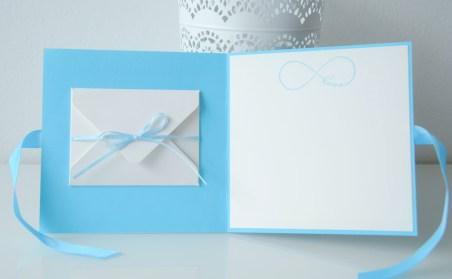 Hochzeitskarte Geldgeschenk handgemacht hellblau_1