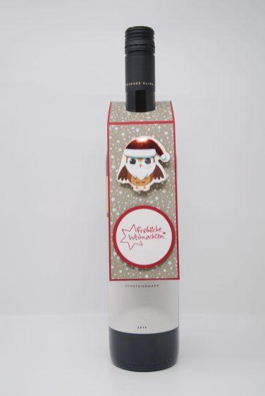 Anhänger Weinflasche Weihnachten handgemacht_4