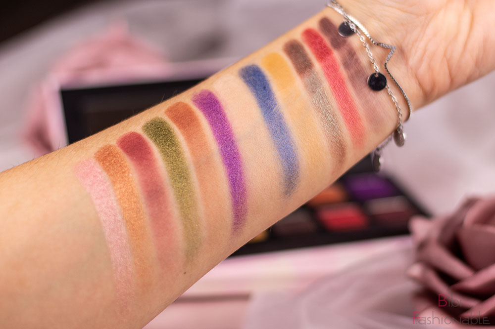 Lethal Cosmetics x Jolina Pessed Powder Palette Swatches